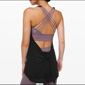 Tied in energy 2-in-1 lululemon tank NWT